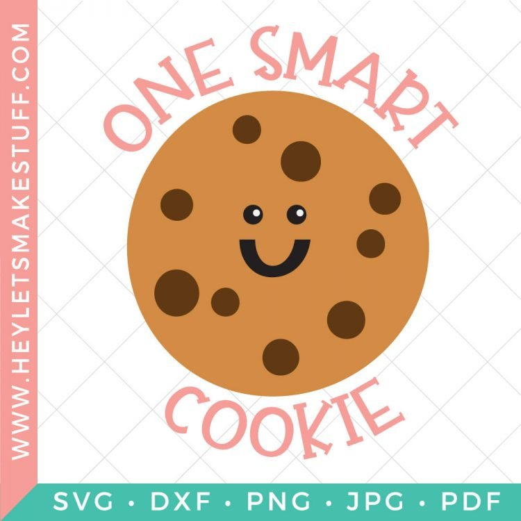 If you've got a little one who is smart, sweet and styling then this One Smart Cookie SVG is perfect. Add some cookie sass to tees, backpacks, lunchboxes, notebooks and more, just in time for the new school year.