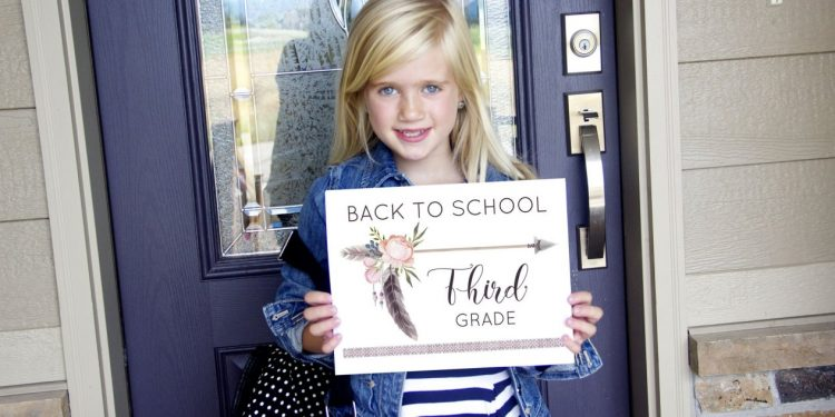 If boho is your style, grab this collection of free boho first day of school signs from jessiekdesign.com