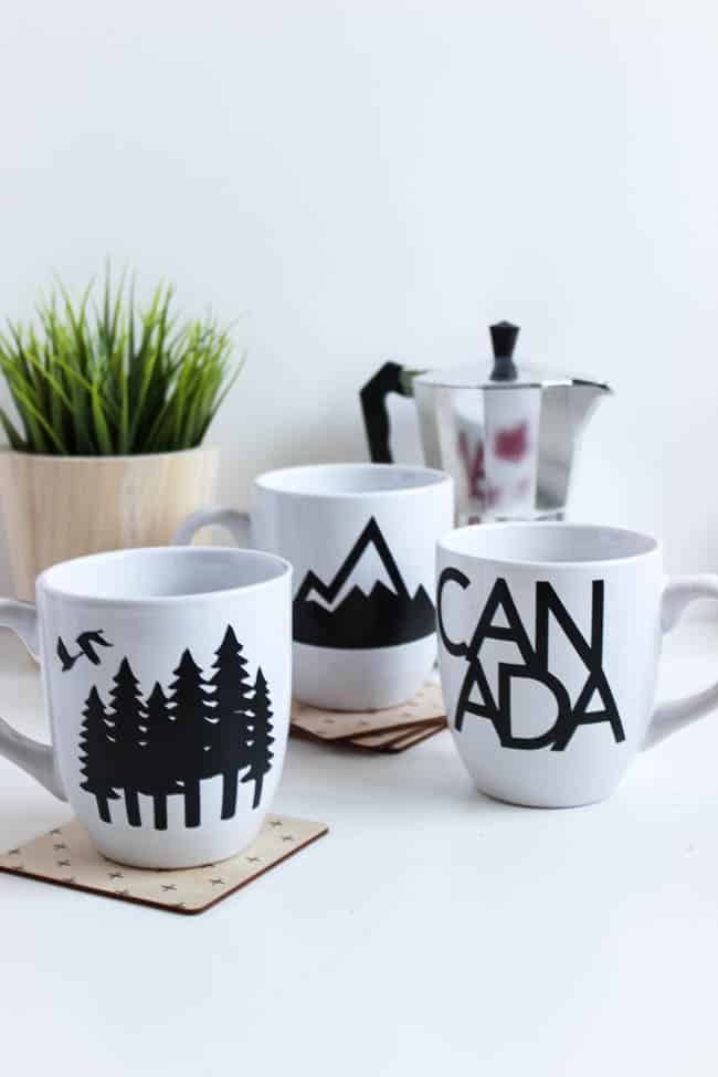 Oh, Canada! Even if you're not Canadian you can still celebrate the great country to the north with these Canadian mugs from lovecreatecelebrate.com.