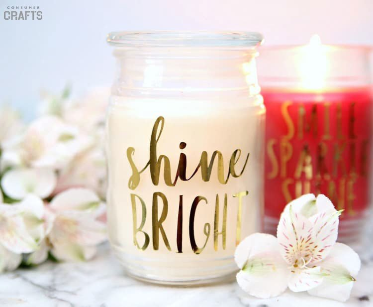 Turn your favorite candle into an inspirational message with your Cricut and this tutorial from consumercrafts.com. Light up a guest bedroom, office or restroom in your home.