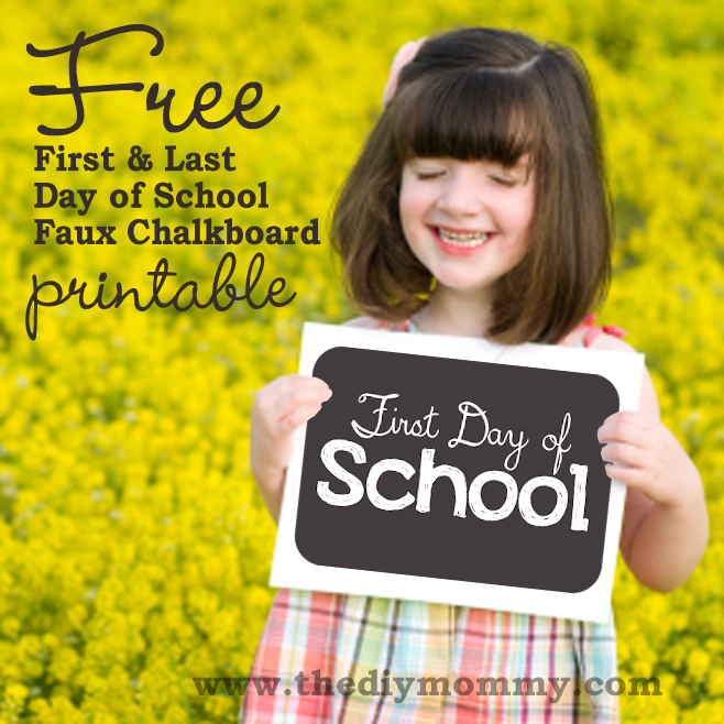 thediymommy.com uses a faux chalkboard style for her first and last day of school printable signs! So creative and simple.