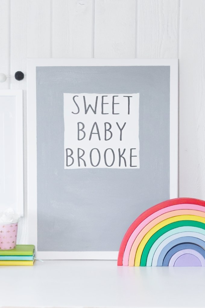 If you're planning a nursery or redoing a kids' room, use your Cricut to create these sweet baby wall decor pieces from kingstoncrafts.com.