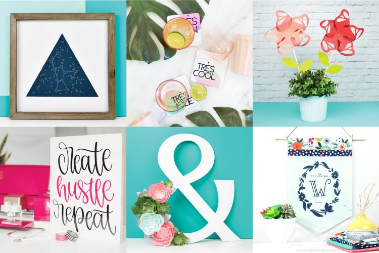 Get your decorating on with this massive collection of Home Decor Ideas with the Cricut! With 50 amazing Cricut-inspired projects to choose from, you'll definitely find some looks you'll love.