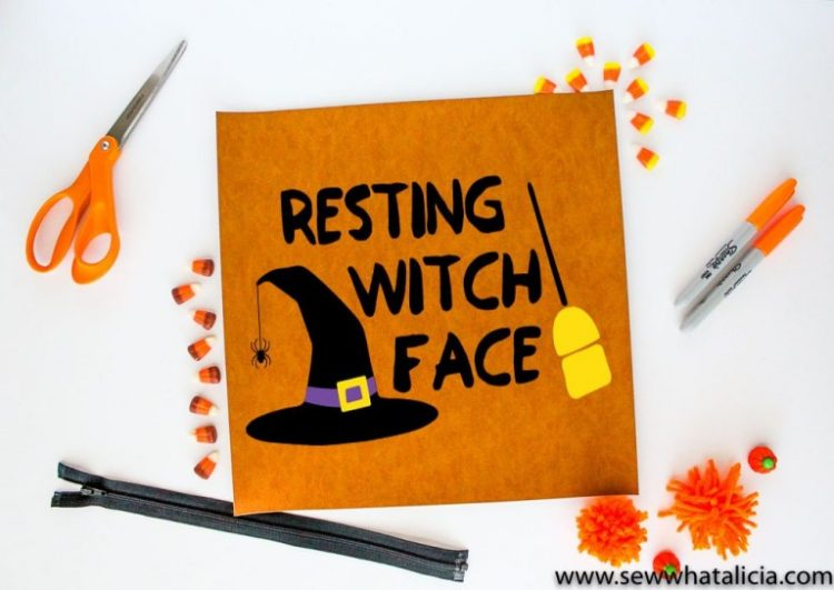 Have some fun with this Halloween pun from sewwhatalicia.com. Is your Resting Witch Face ready?