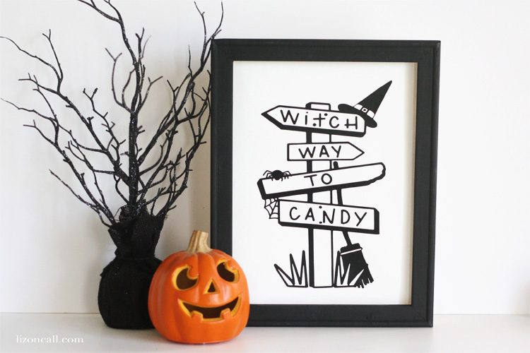 Learn how to make this Halloween Reverse Canvas from lizoncall.com and dress up that Halloween mantel or centerpiece.