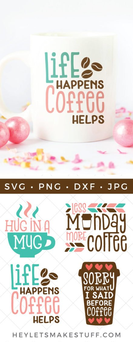 Funny Coffee Svg Bundle Four Caffeinated Cut Files