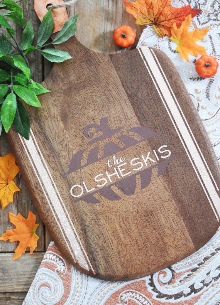 personalized wood tray