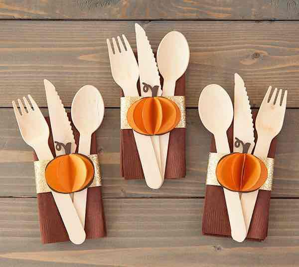 Cricut fall napkin rings