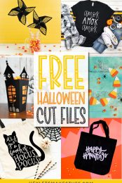Spooky, ghoulish, silly, or cutesy —whatever your Halloween style, this collection of Free Halloween SVGs and Cut Files is perfect for all your decorating and trick or treating plans.