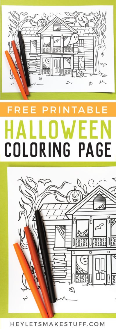 Ghosts, goblins, pumpkins and more! Get into the spooky Halloween spirit with this Free Printable Halloween Coloring Page! Trick or treaters of all sizes will love bringing this festive page to life.