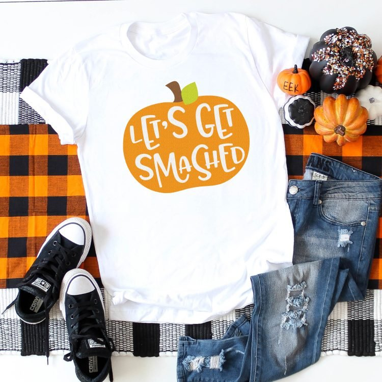 Show your true pumpkin spirit with this Let's Get Smashed Pumpkin SVG from heyletsmakestuff.com! T-shirts, party decor, tumblers—everything needs a funny fall touch.