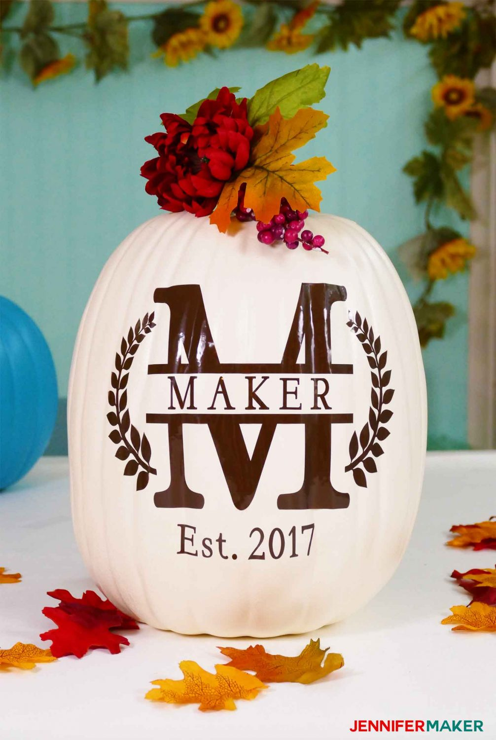 split monogram pumpkin