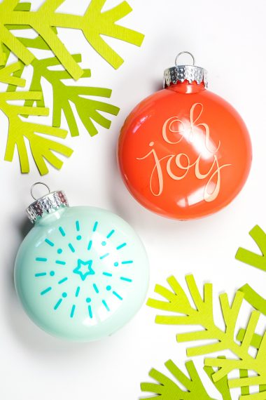 Making custom ornaments with your Cricut is easy, but how do you apply vinyl to an ornament without wrinkling? Here are my best tips and tricks for making the perfect DIY ornament.