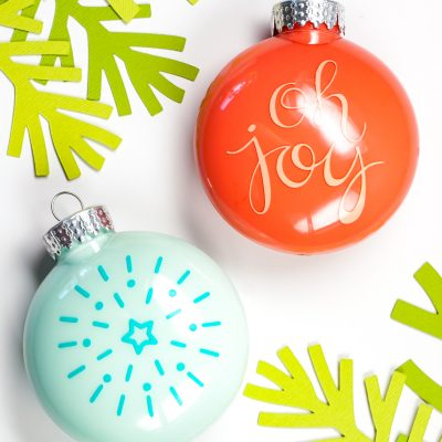 How to Apply Vinyl to an Ornament