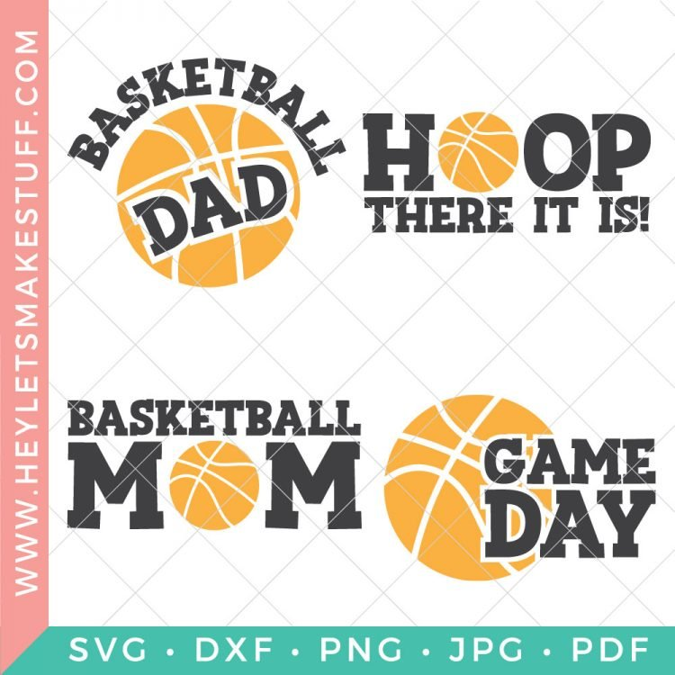 Whether you're team mom, a fan by marriage, or a die-hard enthusiast, this basketball SVG bundle is full of team spirit! Deck out those jerseys, water bottles, sports bags, and more with these fun and sporty cut files.