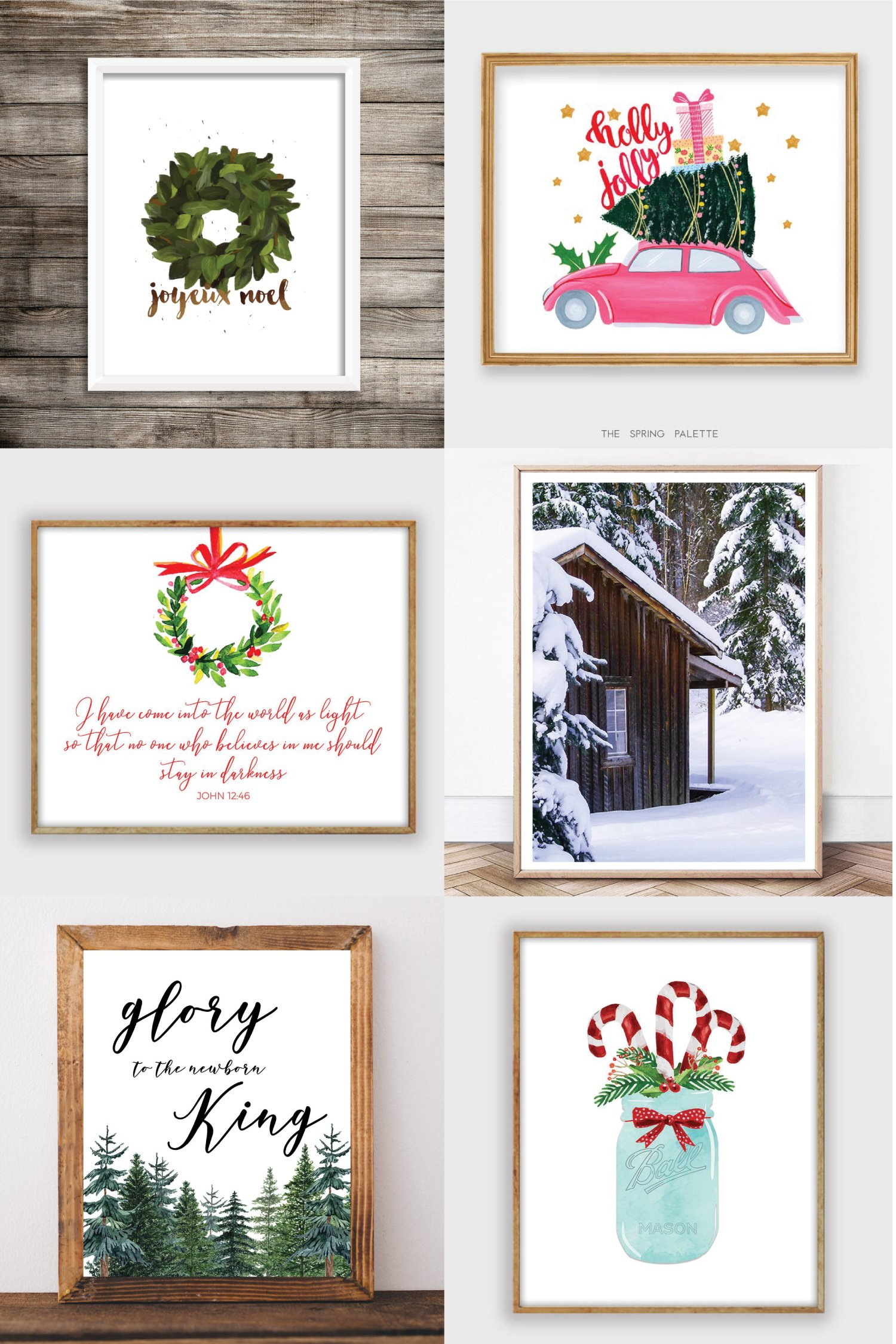 Etsy is the perfect place to find all styles of Christmas printables! I've rounded up some of my favorites—all under $10. Perfect for home decor, classrooms, invitations, and more.