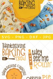 Are you the holiday baker? Or more of a quality control manager? This scrumptious Fall Baking SVG Bundle will put you in the cooking and eating mood!