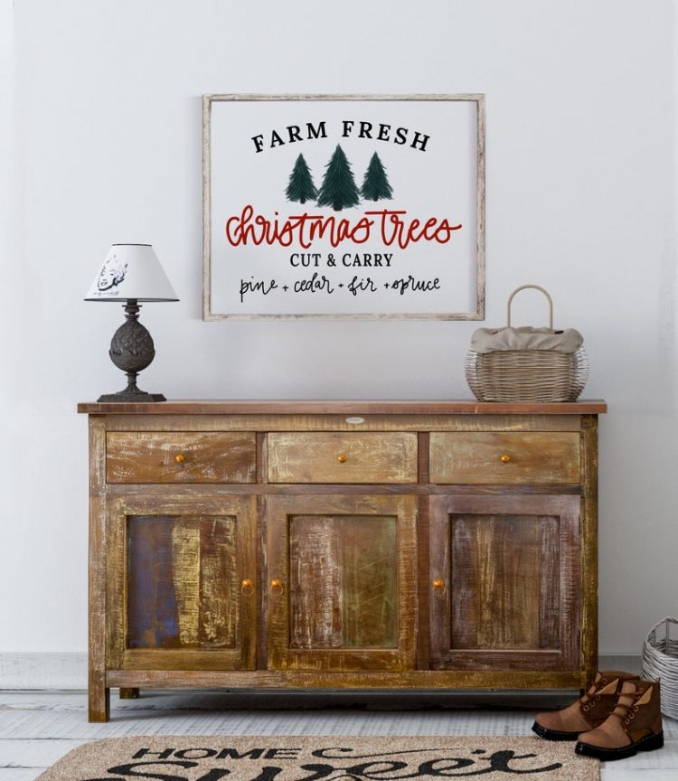 Farm Fresh Christmas Trees Printable Wall Art | Christmas Trees Print | Instant Download | Farmhouse Decor Prints Mothers Day