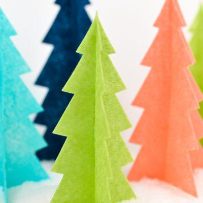 Easy Felt Christmas Trees with the Cricut Maker