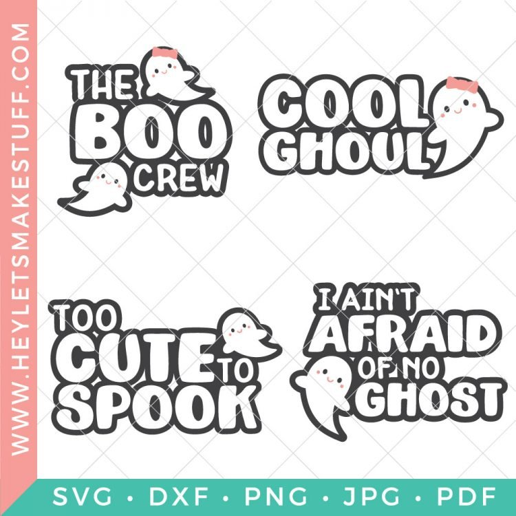 Boo! Did I scare you? Add some boo to your Halloween decor and gear with this spooky Ghost SVG Bundle!