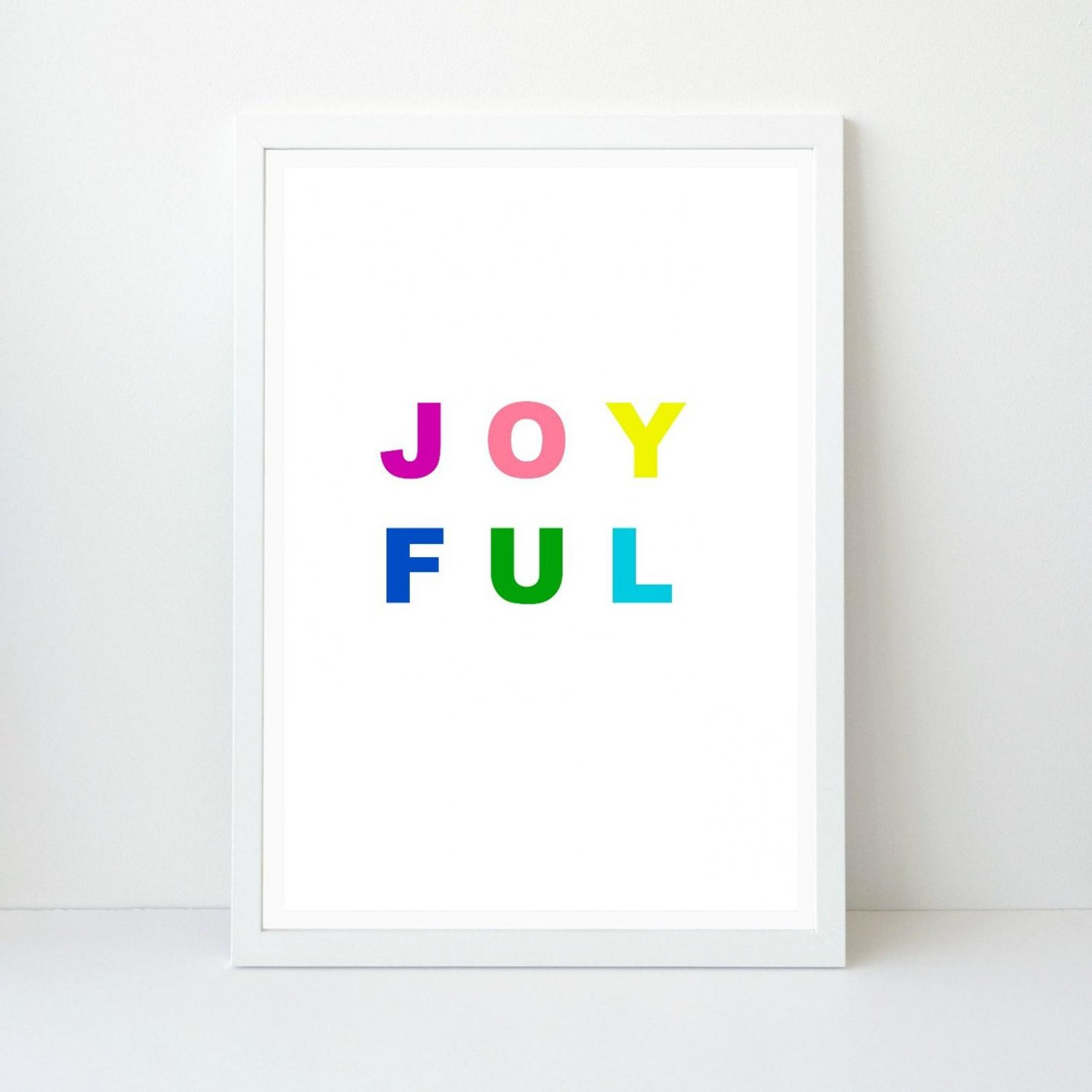 Joyful Holiday Wall Art, Colorful Bright Christmas Art, Printable Print, Instant Download