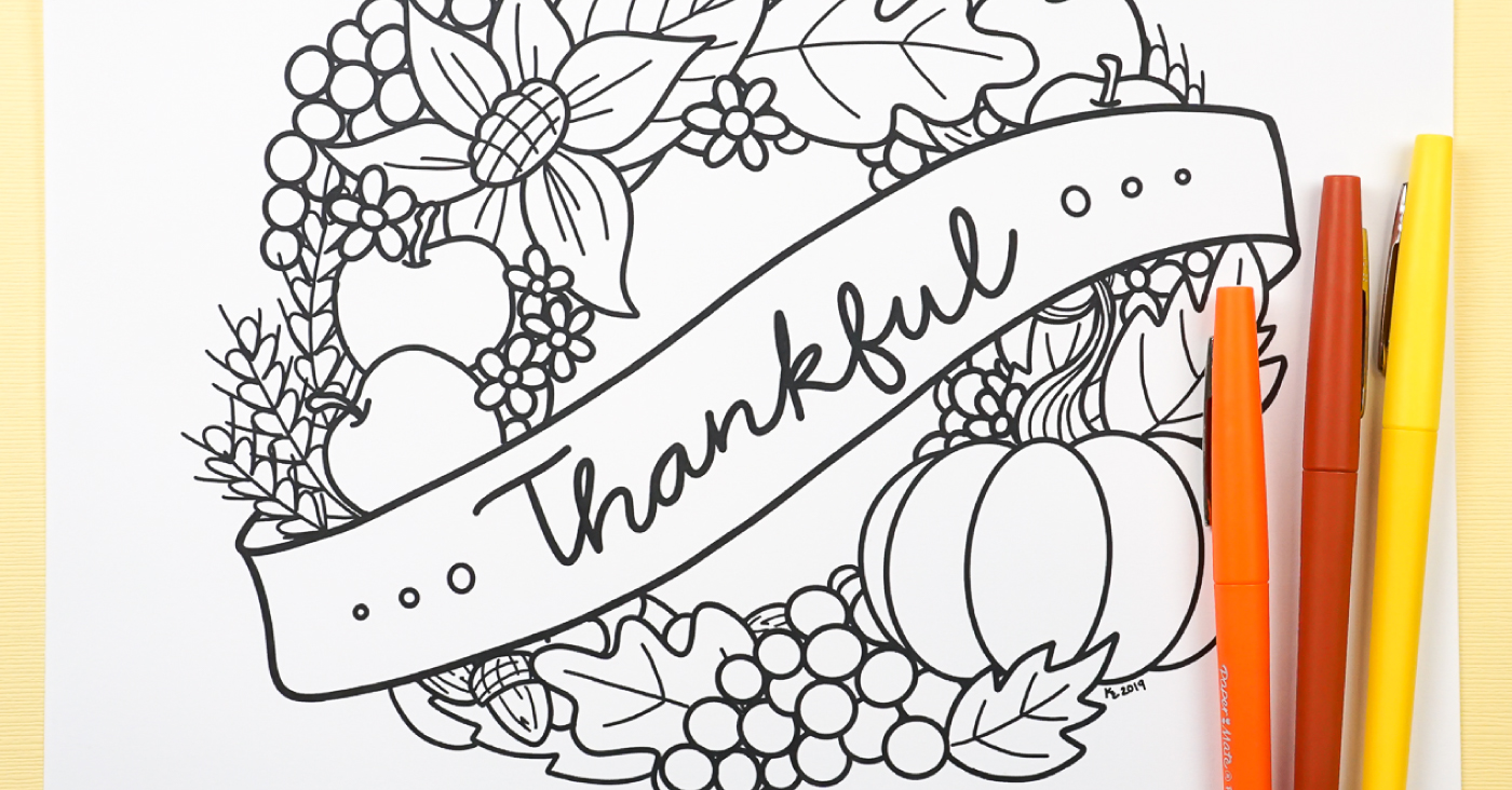 Free Printable Thanksgiving Coloring Page Hey Let S Make Stuff