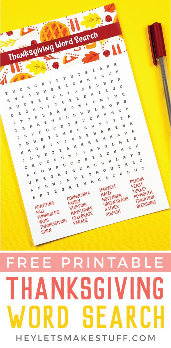 Pinnable image for Thanksgiving word search.