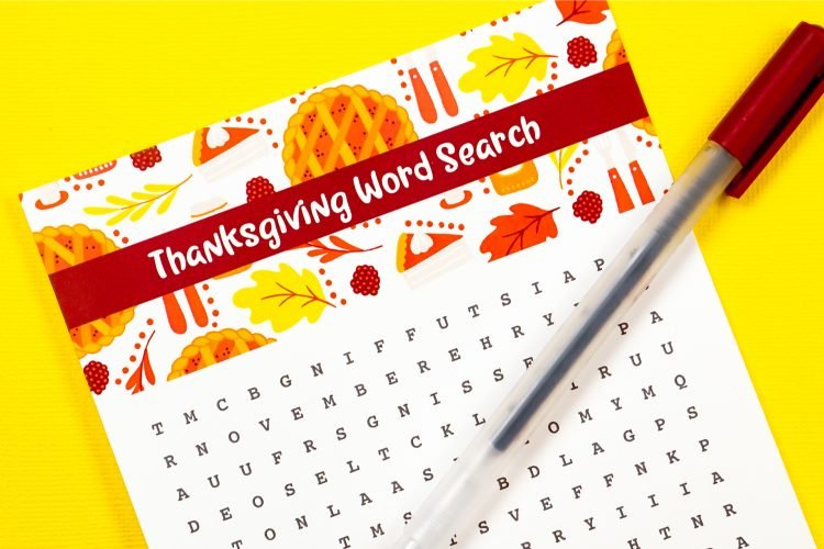 Free Printable Thanksgiving Wordsearch
