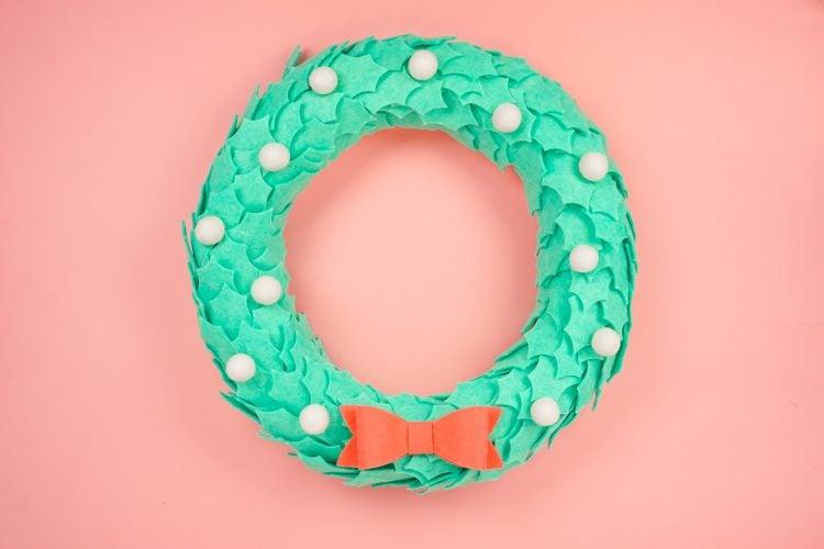 felt wreath with Cricut