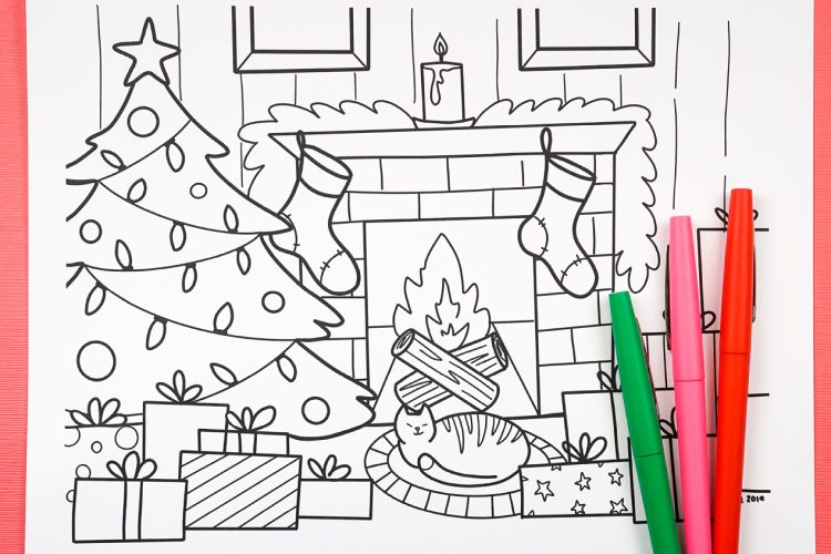- Free Printable Christmas Coloring Page - Hey, Let's Make Stuff