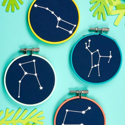 Constellation Embroidery Hoop Christmas Ornaments