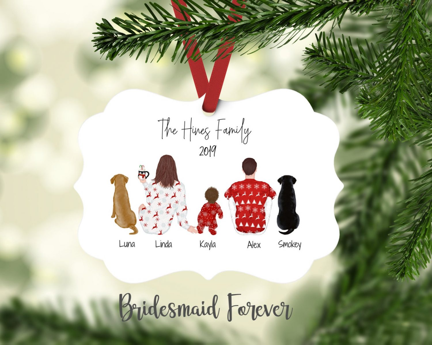 Family Portrait Ornament by Bridesmaid Forever