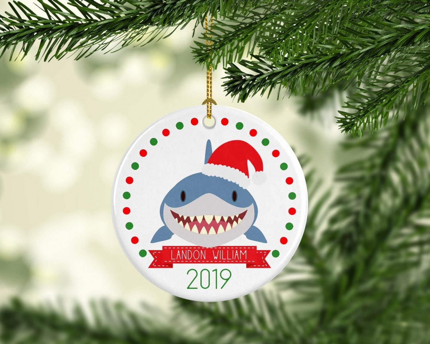 Shark Ornament by Peanut and Pumpkin