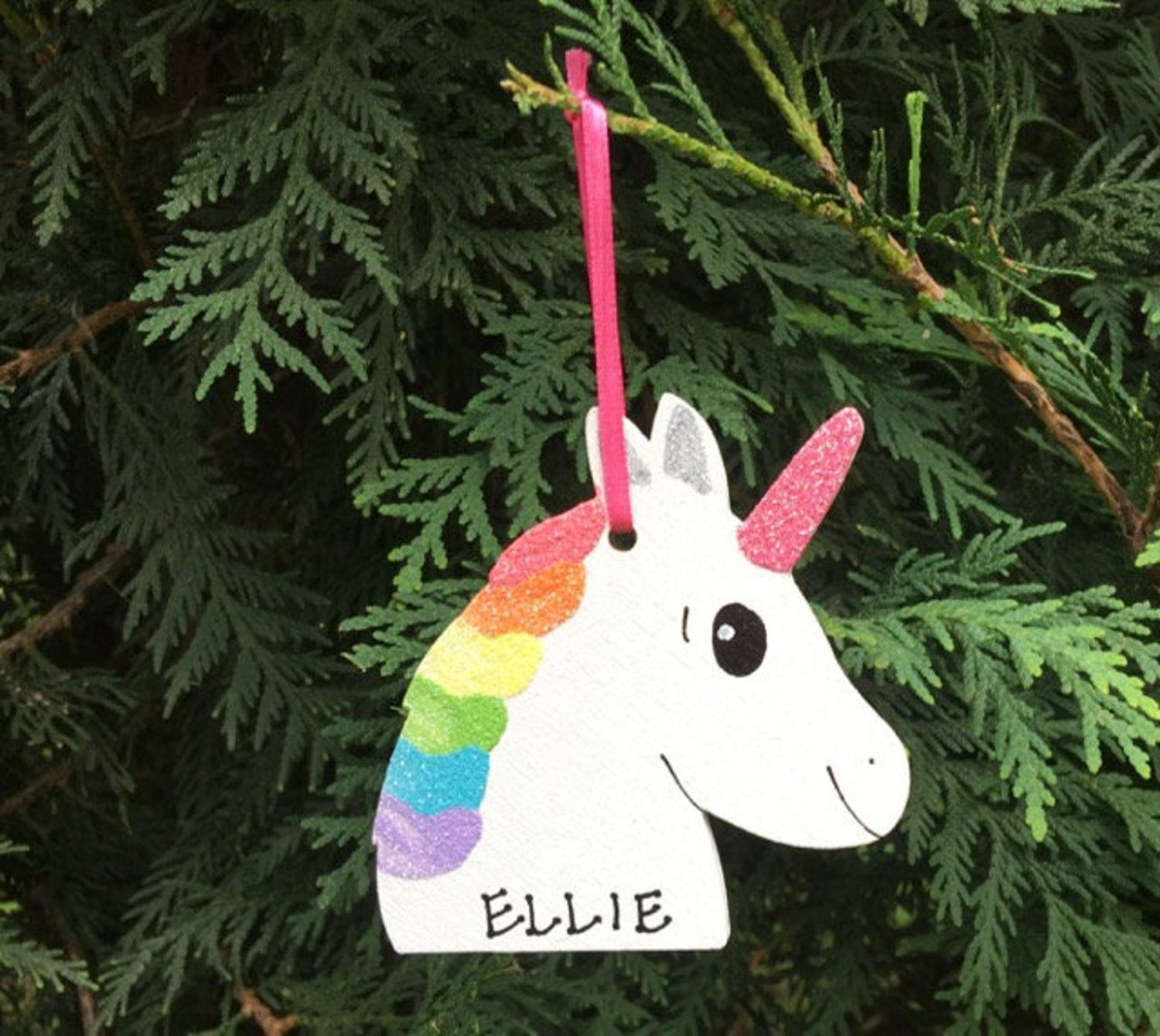 Unicorn Ornament by Cutie Pie Kids Names