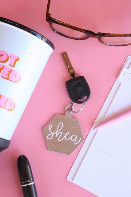 Leather Keychain - Not So Clishea