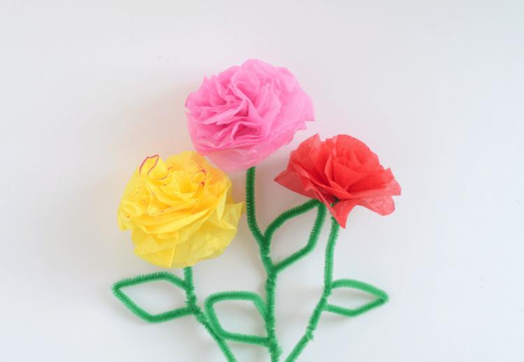 giant tissue flower with stem