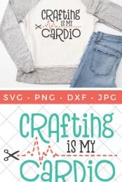 Free Crafting Is My Cardio Svg For Shirts Mugs More
