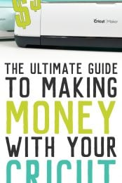 "If you've ever wondered, ""can I make money with my Cricut?"" the answer is yes! Learn everything you need to know about starting a business selling the crafts you make with your Cricut Explore or Maker."