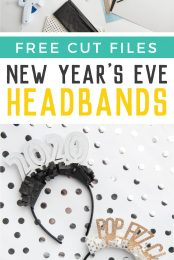 Make these New Year's Eve headbands on your Cricut or other electronic cutting machine! Perfect for New Year's Eve celebrations and ringing in the new year!
