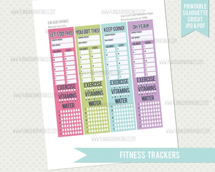 Plan Ahead Printables - Fitness Tracker