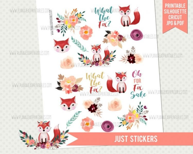 Plan Ahead Printables - Foxes
