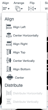 "Use the ""center"" tool under the Align dropdown"