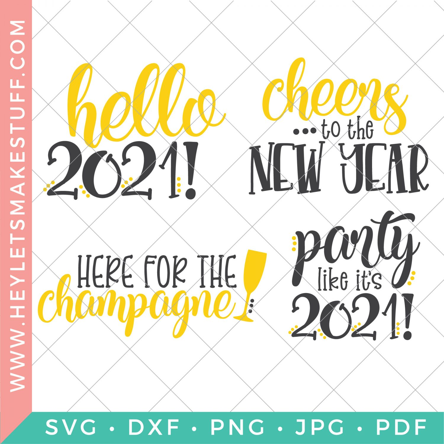 SVG files for New Year's Eve