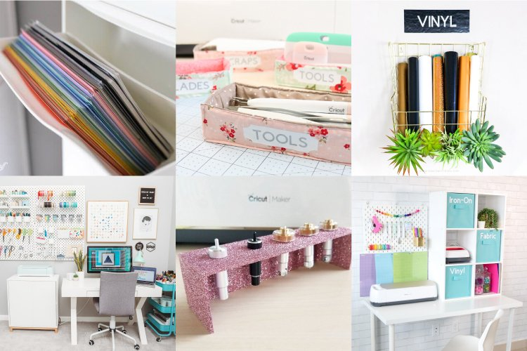 The Best Cricut Storage Organization Ideas For Vinyl Cardstock More