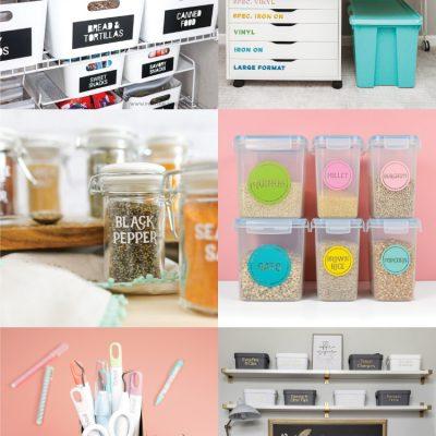 20+ Home Organization Ideas with the Cricut