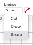 Change to a scoring linetype