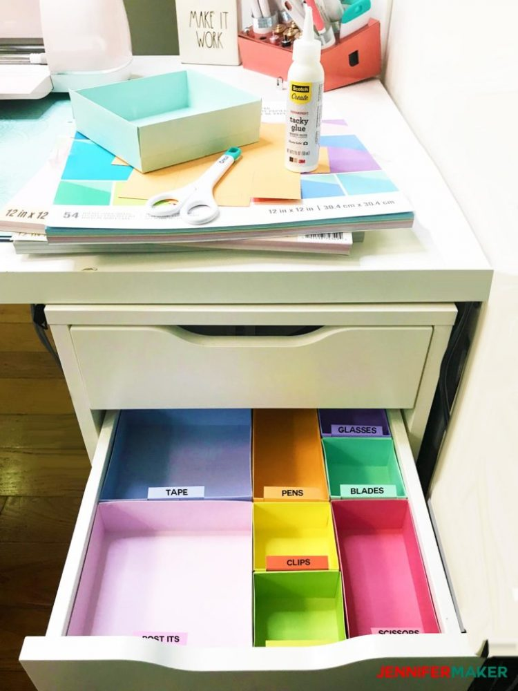 drawer dividers organizers with the cricut