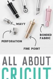 Confused by the different blades that can go with your Cricut Maker or Explore? This guide will help you sort out which blades you'll need for your project!