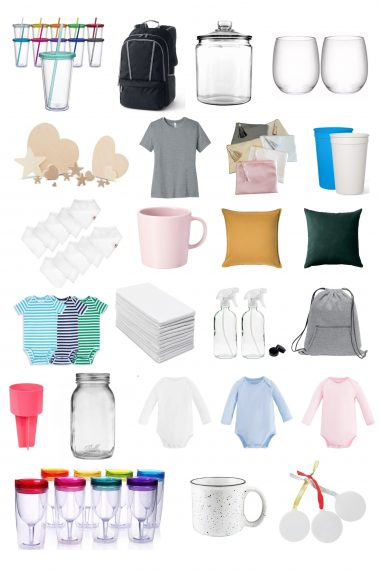 Looking for t-shirts, tote bags, & tumblers? Want to find onesies, mugs, & wooden signs? This is the ultimate guide to the best blanks for Cricut projects!
