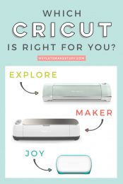 If you're thinking of buying a Cricut machine, this handy guide will help you choose the right machine for the things you want to do. Includes the Cricut Explore line of machines, Cricut Maker, and now Cricut Joy!